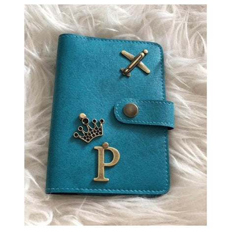 Sky Blue Passport Cover (With Strap)