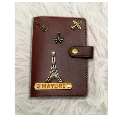 Dark Brown Passport Cover (With Strap) - Eyewearlabs