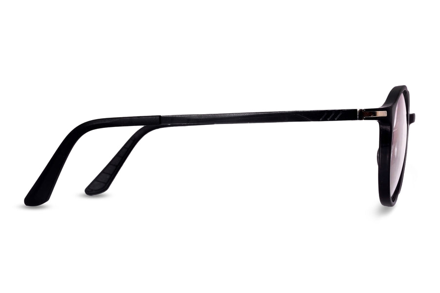 Thurston-C1 Glossy Black Eyewearlabs Blu Block Eyeglasses - Eyewearlabs