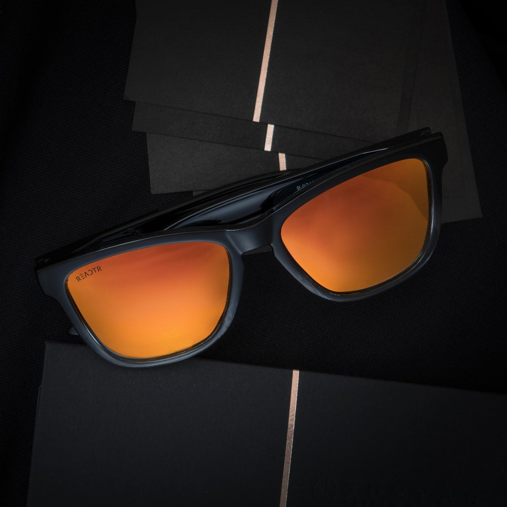 Ace Orange (Biker's Mirror) Sunglasses