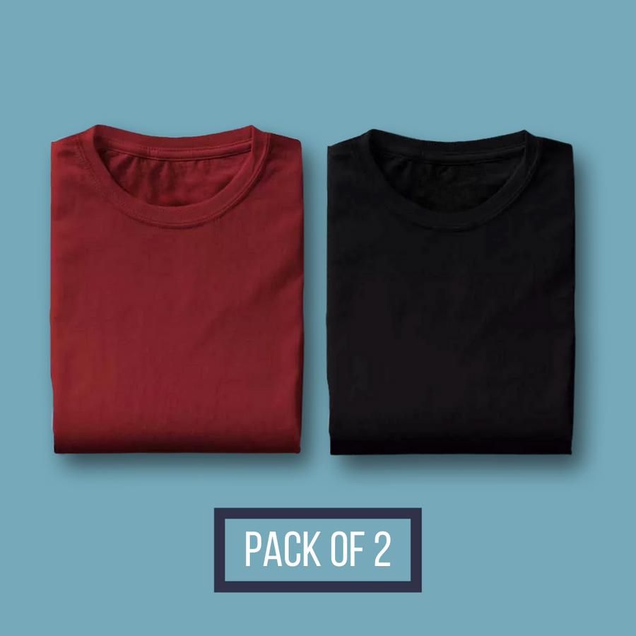 Pack of Two - Maroon, Black - Eyewearlabs