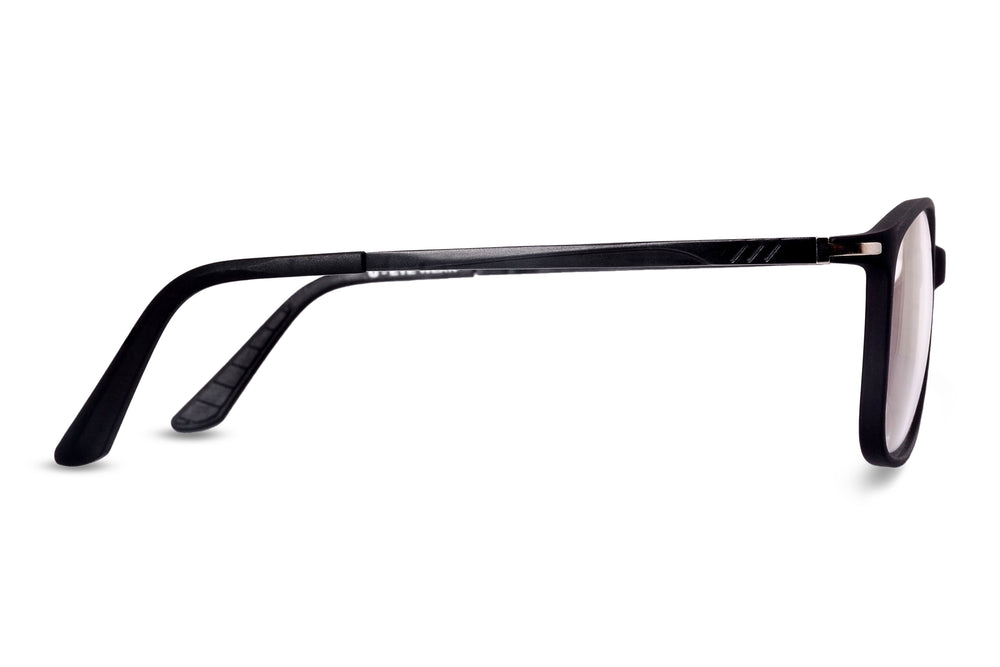 Dubbo-C3 Matte Black Eyewearlabs Blu Block Eyeglasses - Eyewearlabs