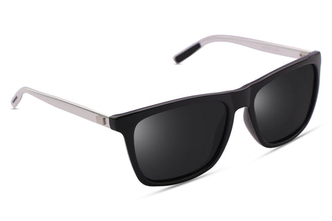 Barkley Knight Black (Biker's Mirror) Reactr Sunglasses - Eyewearlabs