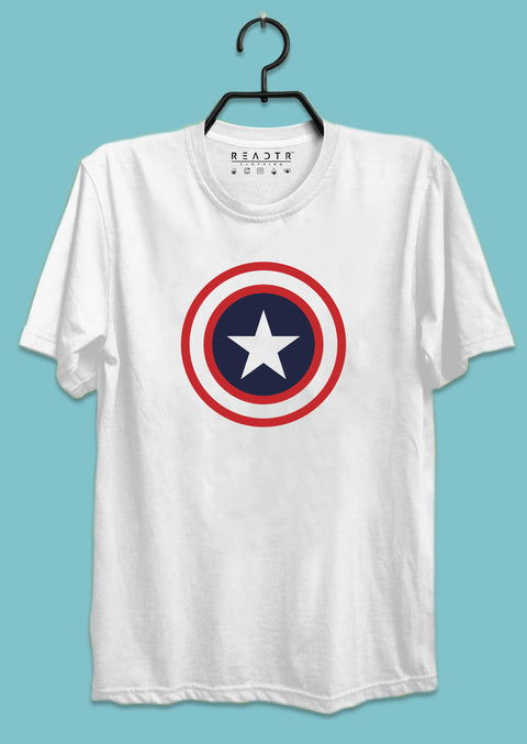 Captain America Shield Reactr Tshirts For Men - Eyewearlabs