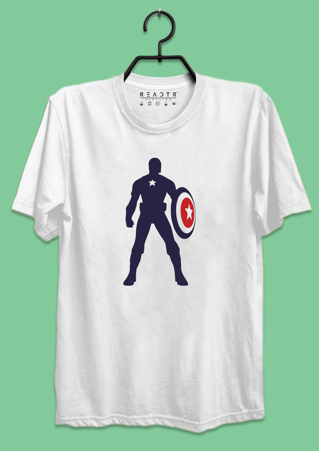 Captain America Reactr Tshirs For Men - Eyewearlabs