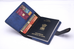 Blue Passport Cover (With Strap) - Eyewearlabs