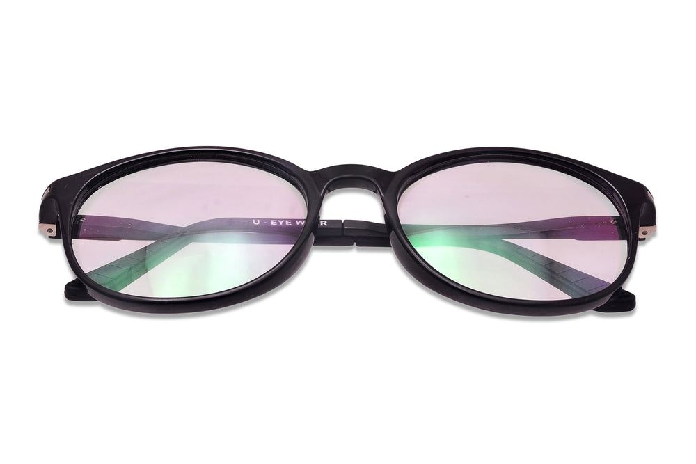 Penrith-C1 Glossy Black Eyewearlabs Blu Block Eyeglasses - Eyewearlabs