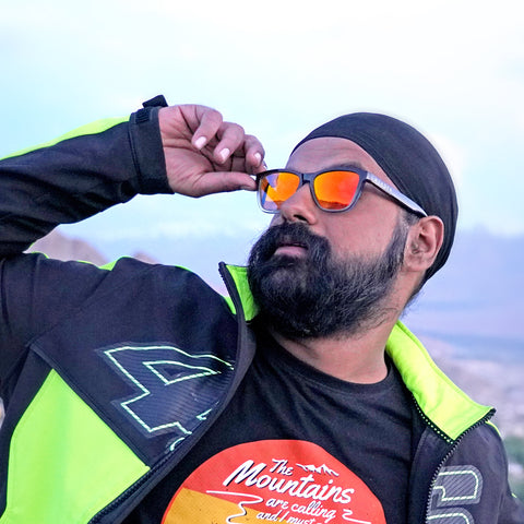 Durand Orange (Biker's Mirror) Reactr Sunglasses