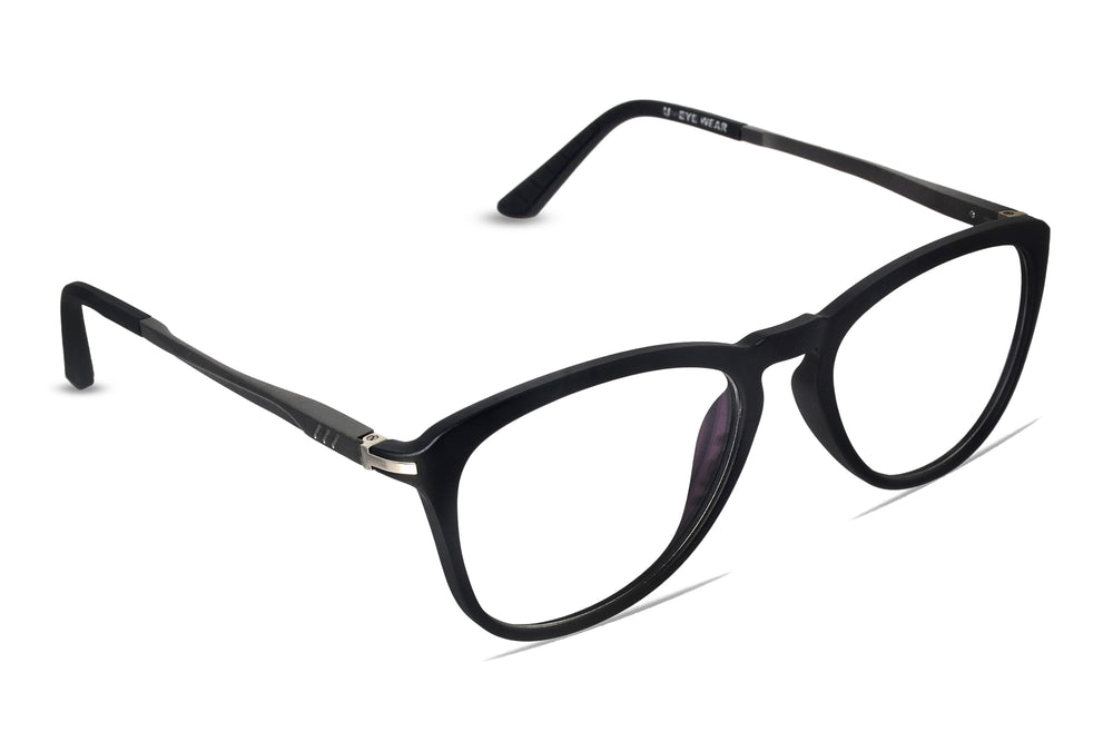 Orange-C4 Matte Black Silver Eyewearlabs Blu Block Eyeglasses - Eyewearlabs