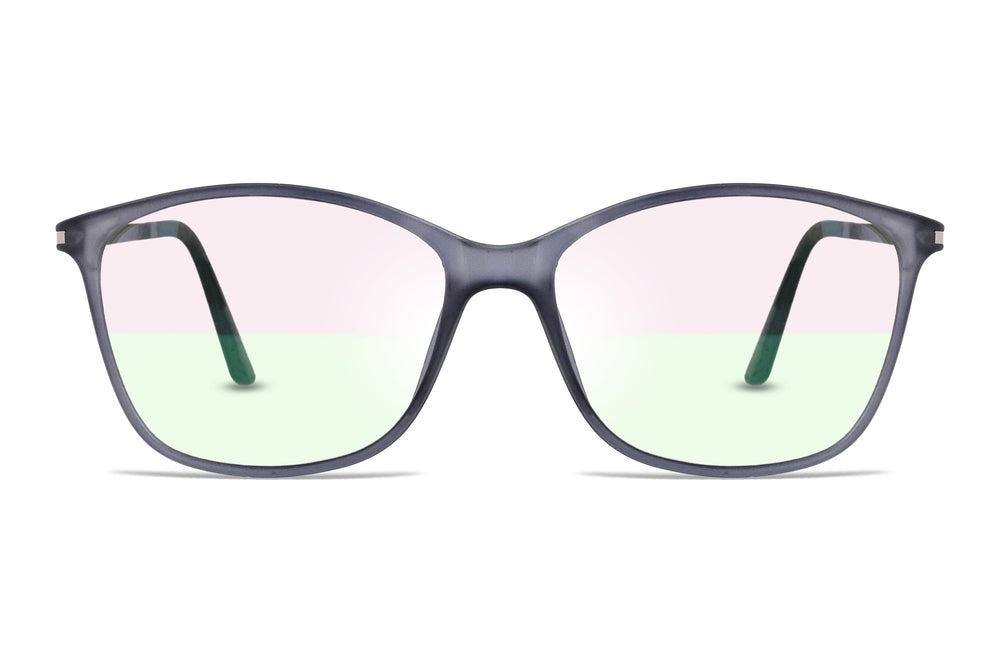Dubbo-C9 Gray Silver Eyewearlabs Blu Block Eyeglasses - Eyewearlabs