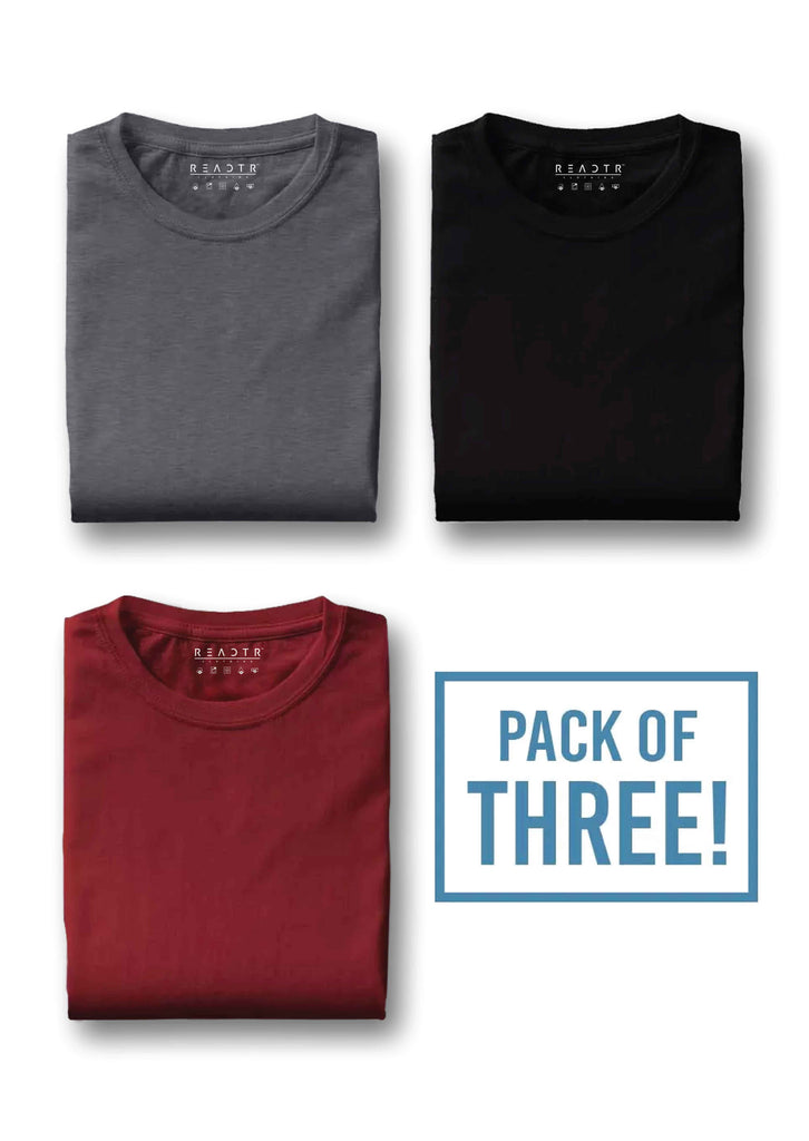 c4fcacd15f8 Pack of three - Charcoal Grey