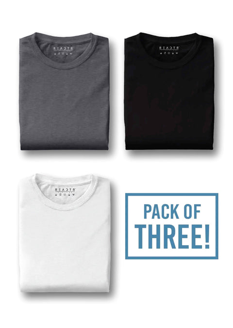 Pack of three - Charcoal Grey, Black White - Eyewearlabs