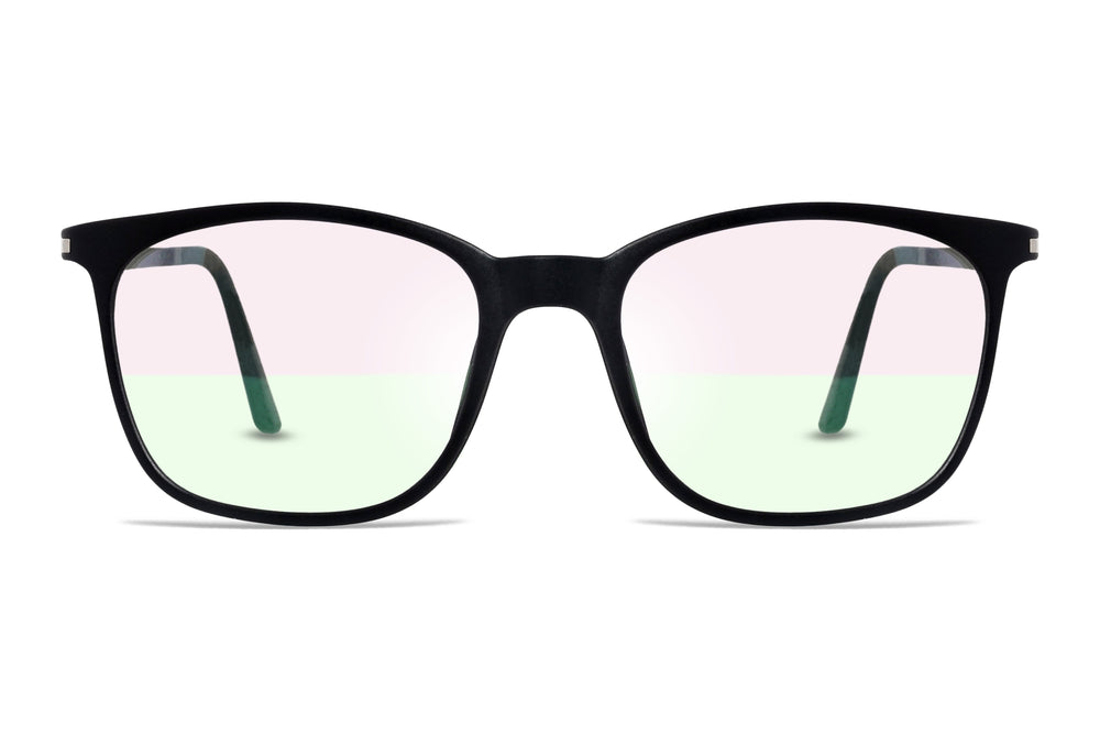 Goulburn-C3 Matte Black Eyewearlabs Blu Block Eyeglasses - Eyewearlabs