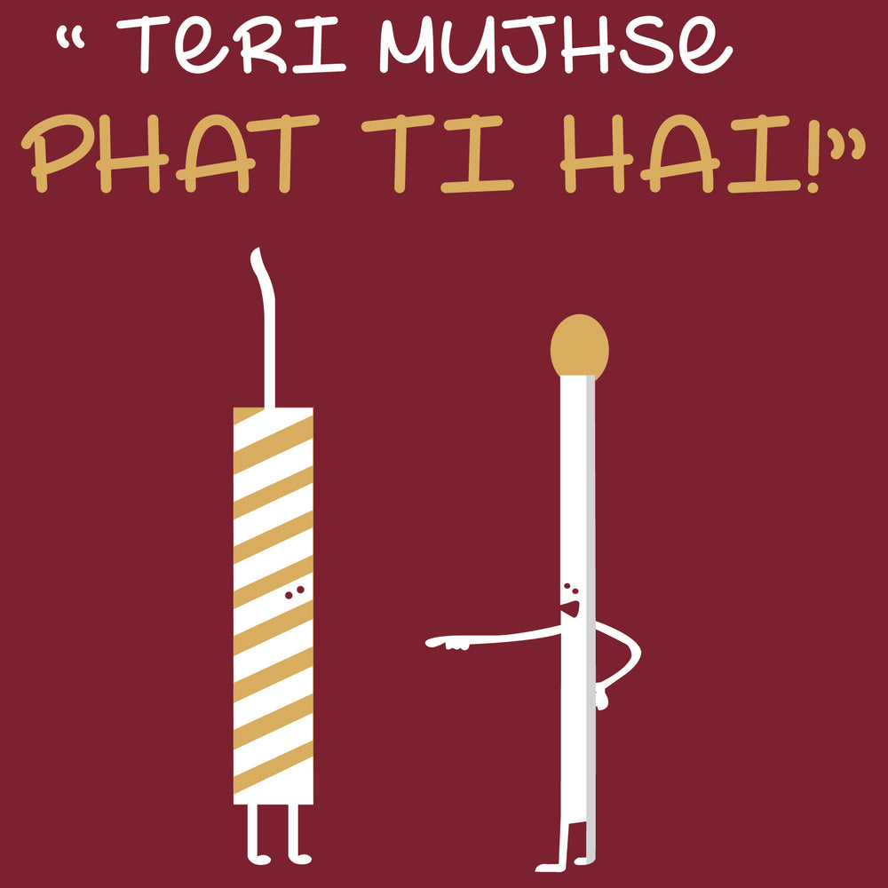 Teri Mujhse Phat Ti Hai Reactr Tshirts For Men - Eyewearlabs