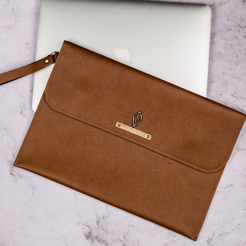 Tan Brown Laptop Sleeve