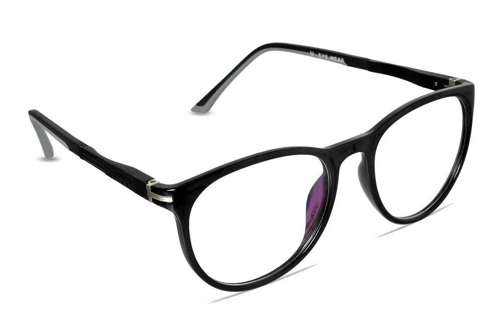 Crane-C1 Glossy Black Eyewearlabs Blu Block Eyeglasses - Eyewearlabs