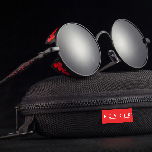Devil's Eye Red Black Sunglasses