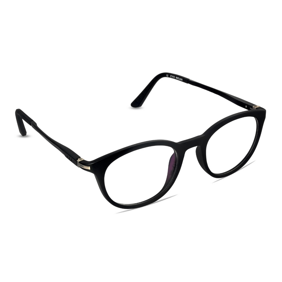 Liverpool-C3 Matte Black Eyewearlabs Blu Block Eyeglasses