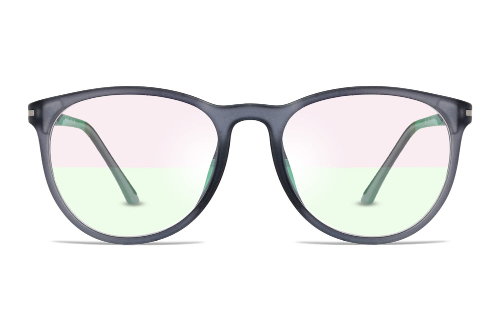 Crane-C9 Gray Silver Eyewearlabs Blu Block Eyeglasses - Eyewearlabs