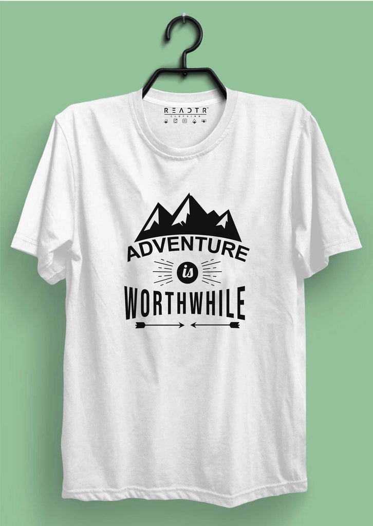 Adventure Is Worthwhile Reactr Tshirts For Men - Eyewearlabs
