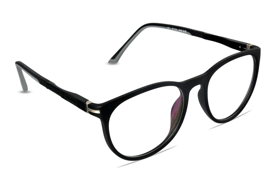 Crane-C3 Matte Black Eyewearlabs Blu Block Eyeglasses - Eyewearlabs