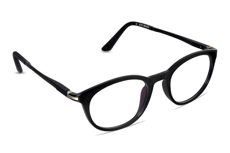 Liverpool-C1 Glossy Black Eyewearlabs Blu Block Eyeglasses - Eyewearlabs