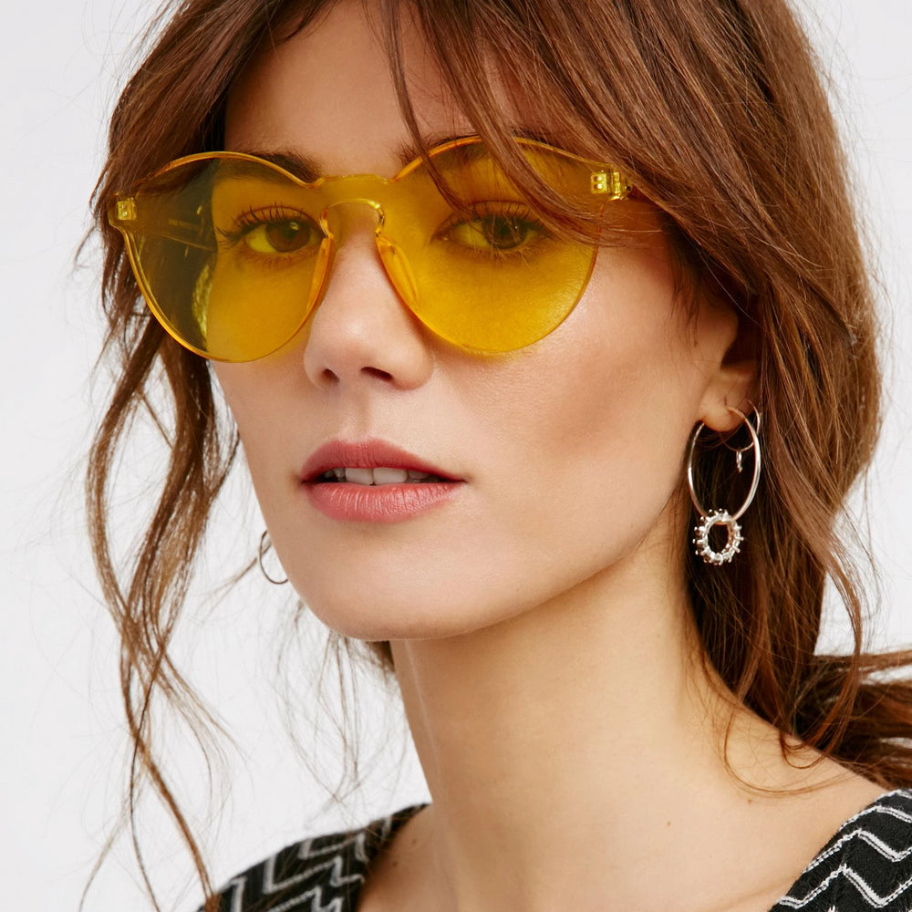 Kirby Anders Yellow Sunglasses For Women - Eyewearlabs
