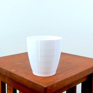 "Signature 3D Printed 4"" BioPot™️ - Medium White or Black Planter with Drainage & Saucer - Eco Friendly Plant Pot Set"
