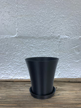 "Flared 3D Printed 4"" BioPot™️ - Medium White Planter with Drainage & Saucer - Eco Friendly Plant Pot Set"