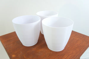 "Signature Set of Traditional 4"" BioPots™️ - 3 Plant Pots with Drainage & Saucers"
