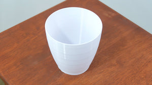 "Signature 3D Printed 4"" BioPot™️ - Medium White Planter with Drainage & Saucer - Eco Friendly Plant Pot Set"