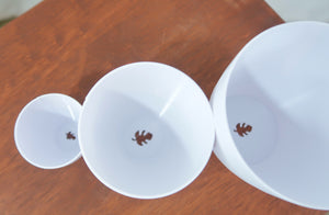 "Signature Set of 3D Printed BioPots™️ - 3 Plant Pots (2"", 3"", 4"") with Drainage & Saucers"