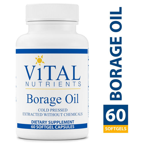 Borage Oil 1000 mg <BR> 60 ct VitalNutrients