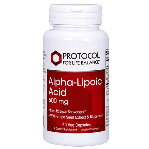 Alpha-Lipoic Acid 600 mg <BR> 60 ct Protocol