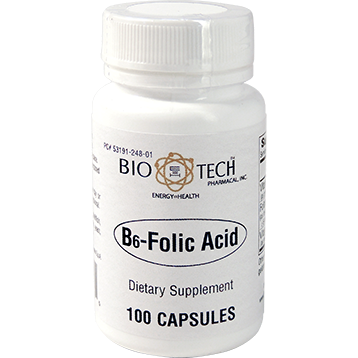 B6 Folic Acid 5000 mcg <BR> 100 ct BioTech