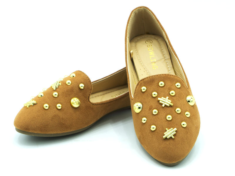 Studded Ballerinas