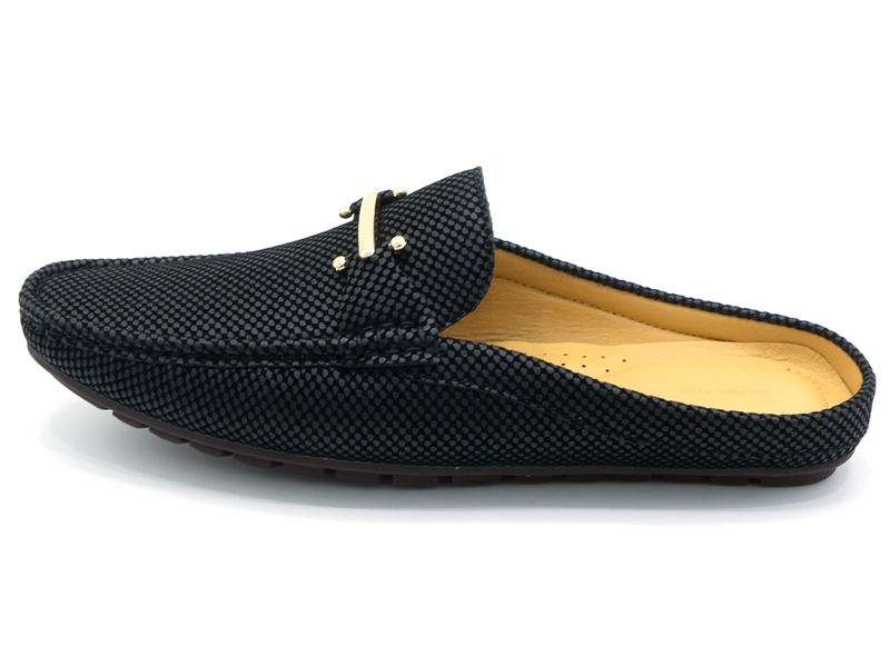 BUCKLED HALF LOAFERS