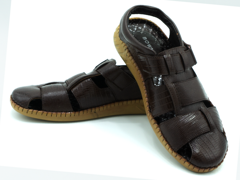 SLING BACK LEATHER SANDALS
