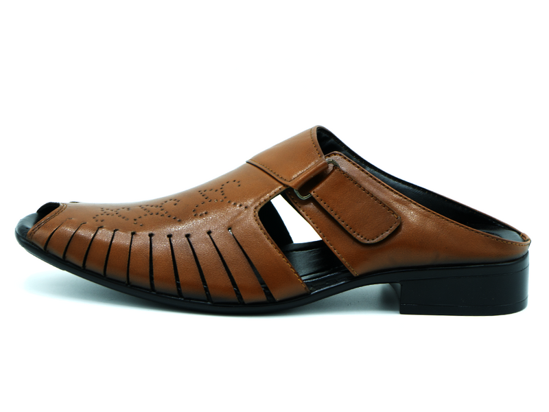 HALF LEATHER CYCLE SANDALS