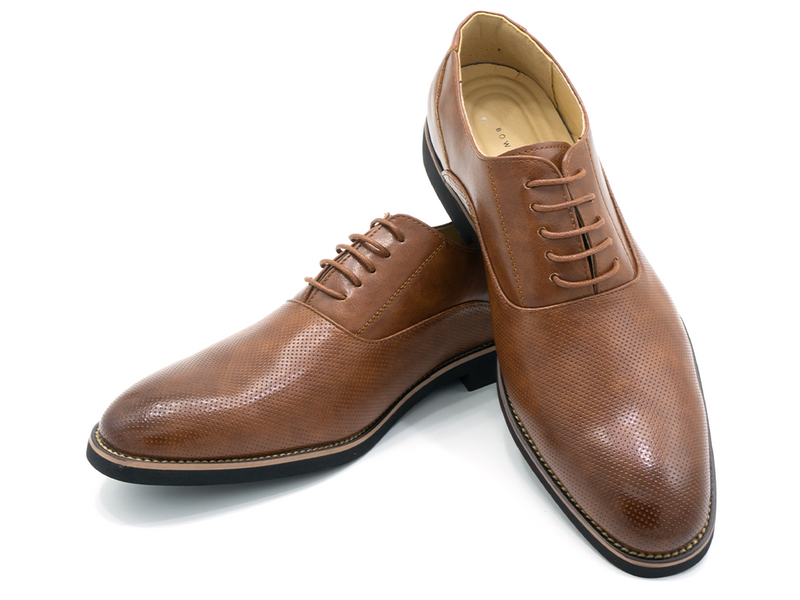 EMBOSSED OXFORD SHOES