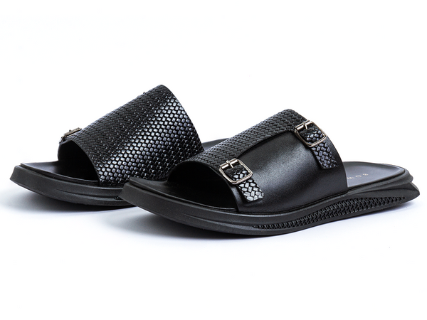 URBAN MONK STRAP LEATHER SANDALS