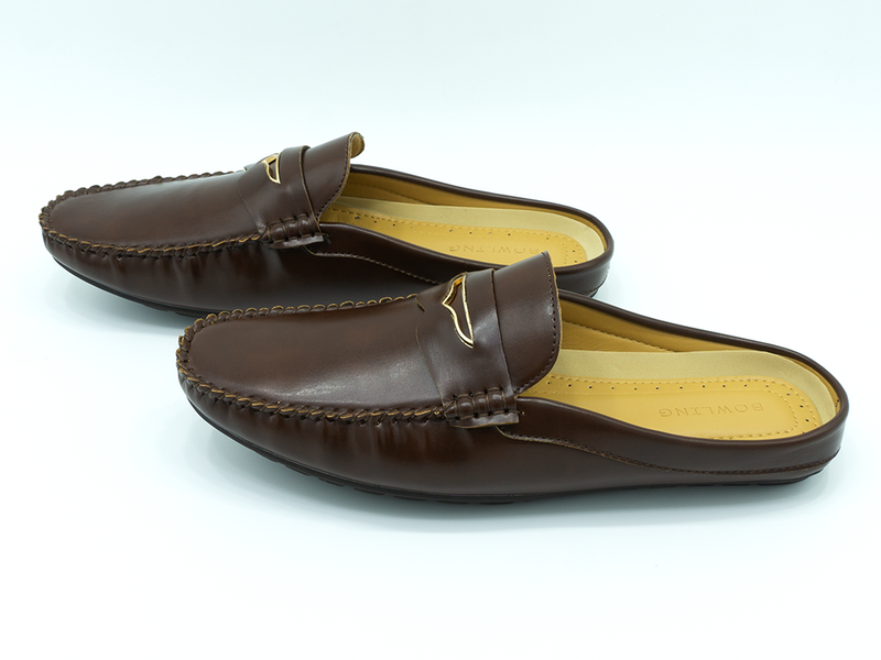 BUCKLE STRAPPED HALF LOAFERS