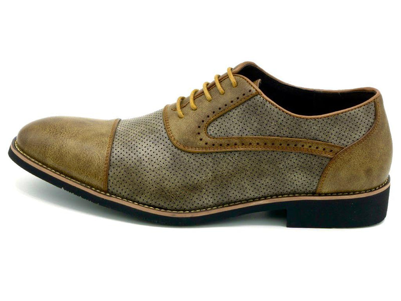 Embossed Brogued Shoes