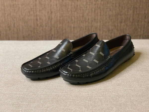 Texture Printed Loafers
