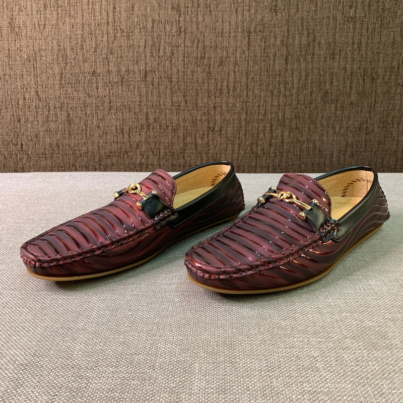 Texture Laminated Loafers