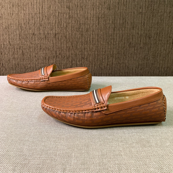 Texture Embossed Loafers