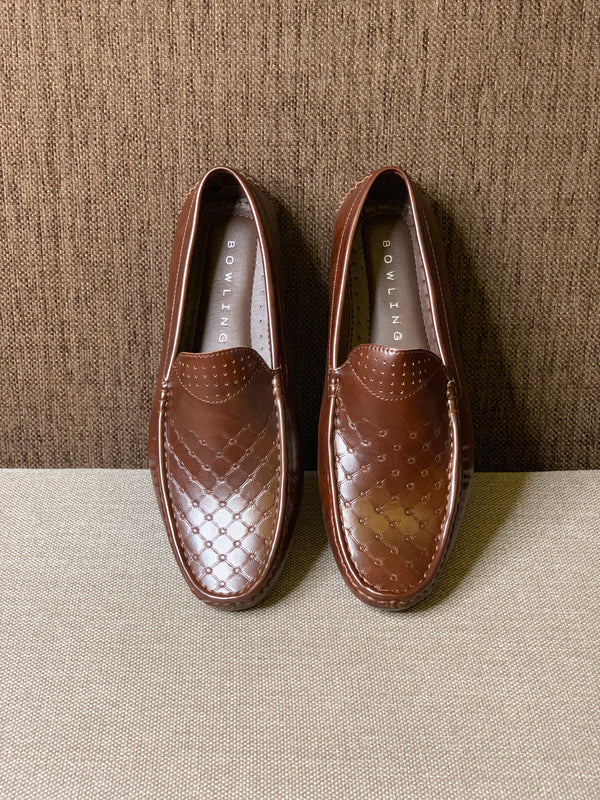 Embossed Loafers