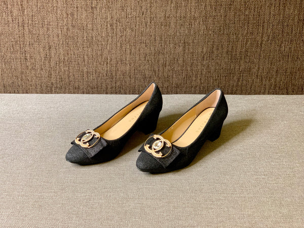 Platform Heeled Pumps