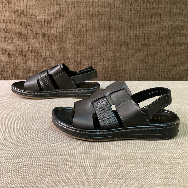 Waxed Leather Sandals