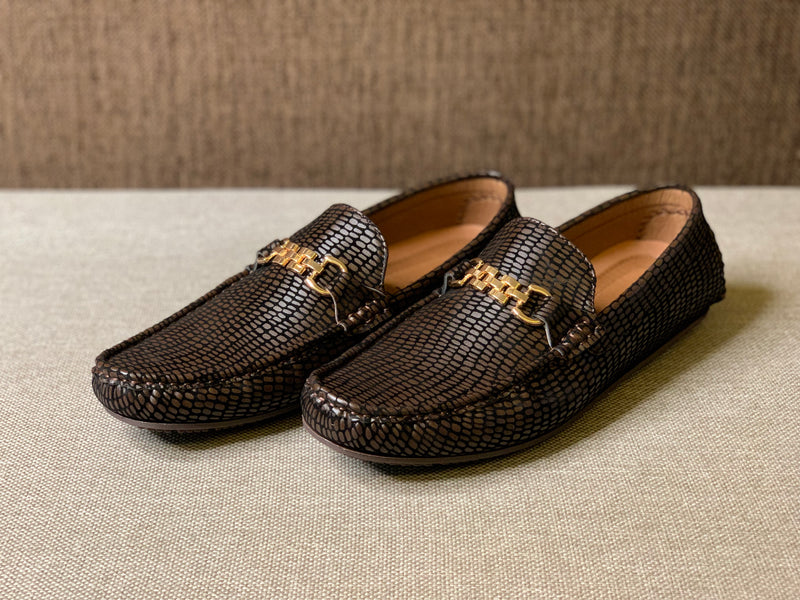 Velvet Embossed Loafers